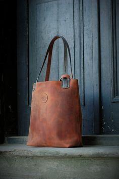 ginger oversized handmade leather bag vintage hobo by ladybuq