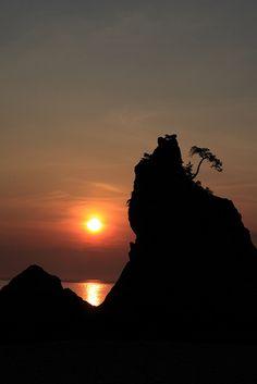Silhouette of Iwate, Japan