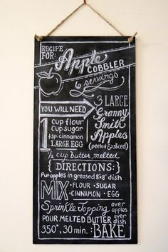 Custom Chalkboard Kitchen Chalkboard  Kitchen Art  by LilyandVal, $229.00