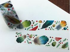 DIY Removable Adhesive Masking Deco Washi Tape - Feather (2 cm width)