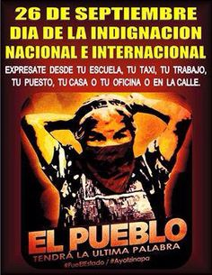#Ayotzinapa 26 de septiembre a 1 año #Mexico