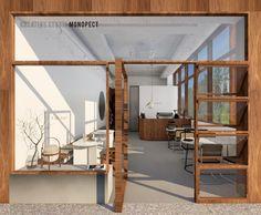 Cafe Shop Design, Small Cafe Design, Cafe Interior Design, Interior Architecture, House Restaurant, Restaurant Design, Plywood Furniture, Plywood Floors, Furniture Design