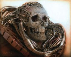 """Peter Gric, """"The Time Traveler,"""" Acrylic on fiberboard 7.87"""" x 9.84"""""""