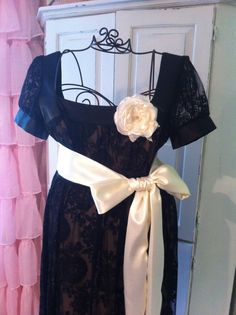 CUSTOM MADE/ Ivory Satin Sash/ Wedding Dress by DolledandDazzled, $25.00