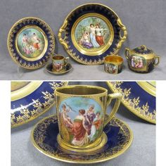 LOT (35) ASSORTED ROYAL VIENNA PORCELAIN : Lot 141