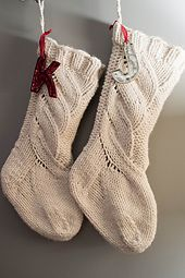 Ravelry: Chunky Cabled Stocking pattern by Krystina Marie