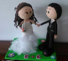 Fofuchos muñecos de boda