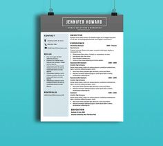 Custom Resume Template Big Color Arrows By Rbdesign On Etsy