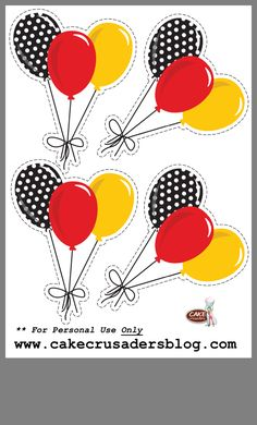 Mickey Mouse Clipart, Mickey Mouse Crafts, Minnie Mouse Birthday Decorations, Mickey Mouse Clubhouse Birthday Party, Mickey Mouse Parties, Mickey Birthday, Mickey Party, Disney Parties, Elmo Party
