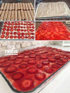 Çilekli Kedidili Pastası Tarifi nasıl yapılır? 6.492 kişinin defterindeki bu tarifin resimli anlatımı ve deneyenlerin fotoğrafları burada. Yazar: Seda Küçük