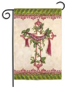 """Christmas Blessings 2 Sided Holiday Garden Flag - Size: 12.5""""""""x18"""""""""""