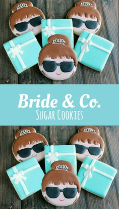 Bride & Co. Cookies, Breakfast At Tiffany's Wedding Cookies, Audrey Hepburn Inspired, Wedding Cookies, Tiffany Party, Bridal Shower #affiliate