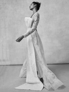 Elegant structured, embroidered wedding dress | Sachin & Babi Fall/Winter 2018