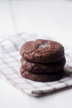 chocolate stuffed cookies with a soft center