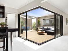 many luxury custom homes have sliding glass doors
