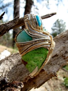 Leaf of Love Gaspeite Turquoise Chrysoprase by wyleycotton on Etsy, $1150.00