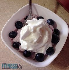Under 215 calories: Blueberry Cheesecake Dessert. 6-ingredient sweet tooth cure!