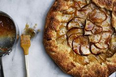 Brown Butter Apple Tart with apricot jam
