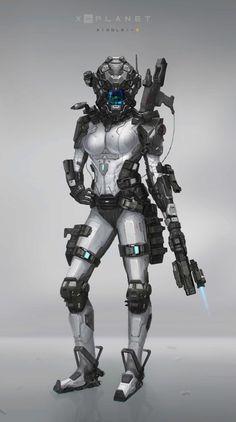 ArtStation - Special force female, XingLei Xuan