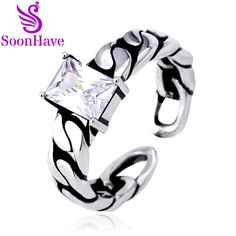 Twist Chain Zircon Vintage Silver Ring Adjusted Rings Thai Silver Openings Fashion Women jewelry Drop Shipping SoonHave Gift. Yesterday's price: US $29.90 (24.53 EUR). Today's price: US $3.59 (2.96 EUR). Discount: 88%.