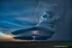 Supercell Thunderstorm in Nebraska  wunderground.com