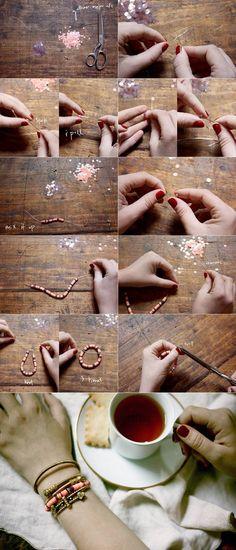 Sequin bracelet - do it yourself stuff