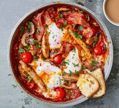 Ease yourself into the weekend with our indulgent brunch recipes, including American-style pancakes, eggs Benedict, shakshuka and French toast. Brunch Recipes, Breakfast Recipes, Snack Recipes, Breakfast Ideas, Vegetarian Breakfast, Protein Breakfast, Savoury Recipes, Breakfast Time, Healthy Brunch