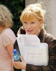 #CateBlanchett on Set of #NotesOfAScandal
