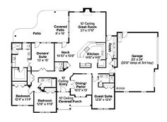 Prairie Styling Defines the Fall Creek (HWBDO72980) | Craftsman House Plan from BuilderHousePlans.com