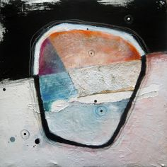 Augustin Castillo mixed media painting - Abstract No.514/30x30 cms/ 11x11 in