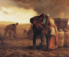 Famous Artist Birthdays! Jean-François Millet is best-known for being one of the co-founders of the Barbizon School in France, and one of the first proponents of Realism as a cohesive movement. Harvesting Potatoes 20th Century Masterworks available for purchase through Robin Rile Fine Art Contact info@robinrile.com