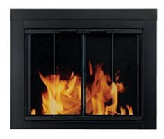 Pleasant Hearth Fireplace Glass Door Black Finish Ascot Small Surface Mount New. clear tempered glass doors open 180 for a full view of fireplace. Fireplace Opening Height (In. Fireplace Opening Width (In. Fireplace Glass Doors, Small Fireplace, Fireplace Screens, Fireplace Hearth, Fireplace Inserts, Fireplace Outdoor, White Fireplace, Fireplace Ideas, Electric Fireplace Insert