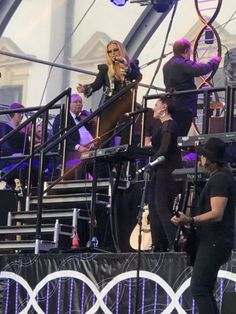 Concert of Anastacia. And I somehow managed to sneak on the stage and to conduct the orchestra. Great fun!
