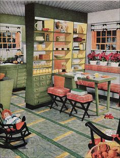 1954 Armstrong Kitchen by American Vintage Home, via Flickr