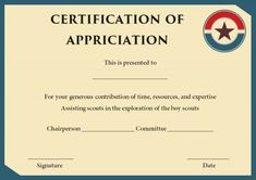 Boy scout certificate of appreciation template scout certificate boy scout rank advancement card yelopaper Choice Image