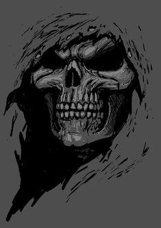 SKULL - Line Art Reaper 1 by *AndrewDobell on deviantART