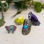 LOVE these rings from Earthbound Trading Company