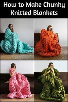 These comfortable chunky knitted blankets will surely keep you warm. 2019 These comfortable chunky knitted blankets will surely keep you warm. The post These comfortable chunky knitted blankets will surely keep you warm. 2019 appeared first on Yarn ideas. Chunky Yarn Blanket, Hand Knit Blanket, Knitted Blankets, Warm Blankets, Hand Made Blankets, Knitting Yarn Diy, Arm Knitting, Finger Knitting, Knitting Projects