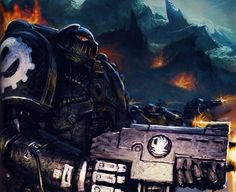 The Iron Hands subjugate a planet to bring it into Imperial Compliance during the Great Crusade