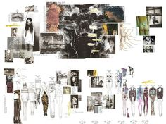 Fashion Portfolio - fashion design with illustrations, theme research, design development & collection lineup - fashion sketchbook; fashion designer's process
