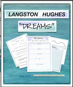 FREE Inspiring, creative activities that encourage students to think about their dreams, to interpret Hughes' poem and to write dream poems A perfect January activity to also celebrate MLK and his dream speech!