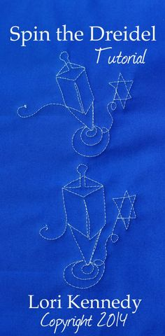 Spin the Dreidel, Free Motion quilting