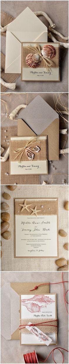 Original invitación de boda inspirada en la playa ¿qué te parece?