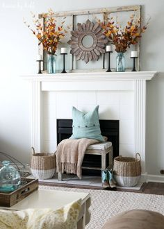 House by Hoff Fall Home Tour 2015 - House by Hoff - Modern Design Fall Home Decor, Autumn Home, Diy Home Decor, Feng Shui, Fall Mantel Decorations, Mantles Decor, Mantle Ideas, Harvest Decorations, Fireplace Mantle