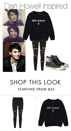 """Dan Howell Inspired Outfit"" by no1r5phan ❤ liked on Polyvore featuring mode en Converse"