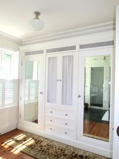 closet with mirrors