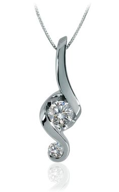 The Signature Pendant in White Gold by Juno Lucina