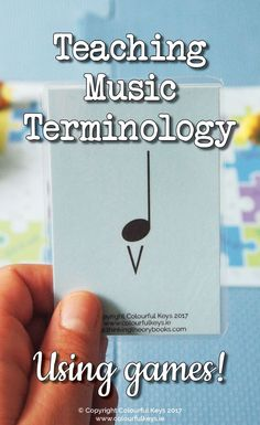 Teach music terms to your intermediate students using games!