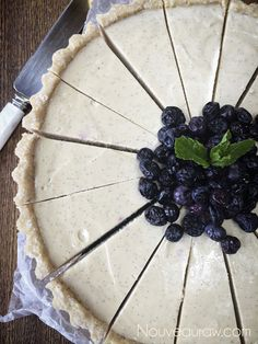 Blueberry Vanilla Bean Cheesecake (raw, vegan, gluten-free)Nouveau Raw