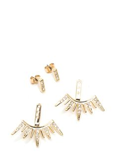 Jagged Jewels Jacket Earrings GOLD